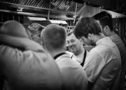 Chef Simon Shaw and kitchen team