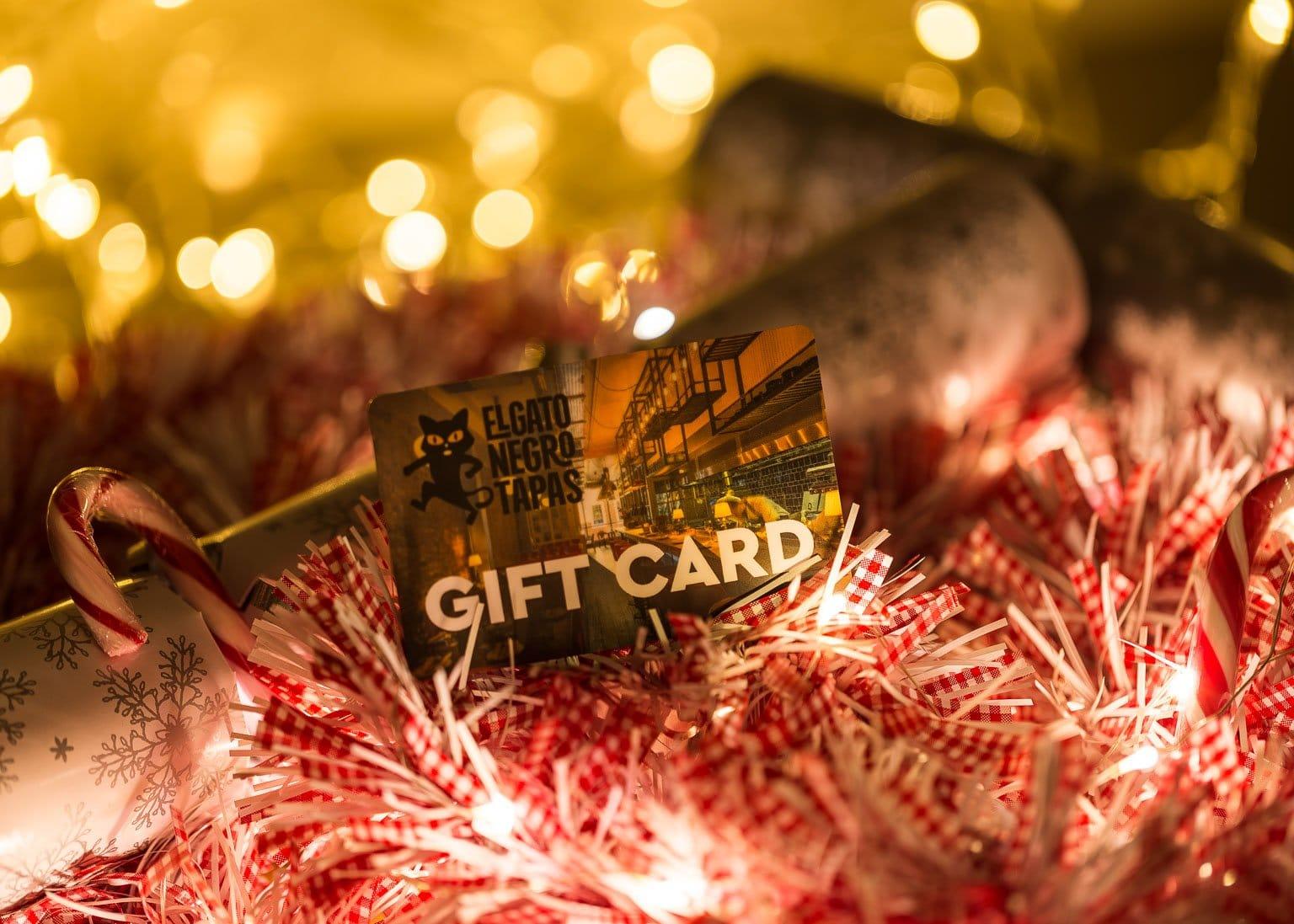 Christmas gift cards at El Gato Negro