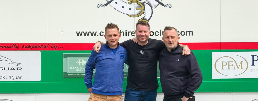 Chefs Simon Shaw, Sean Sutton and Andrew Nutter for Charity Polo Day