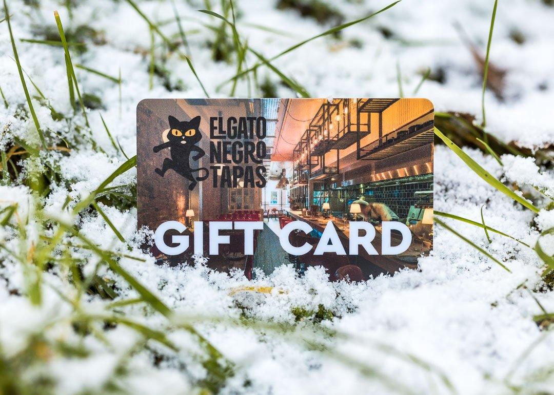 Gift card in snow