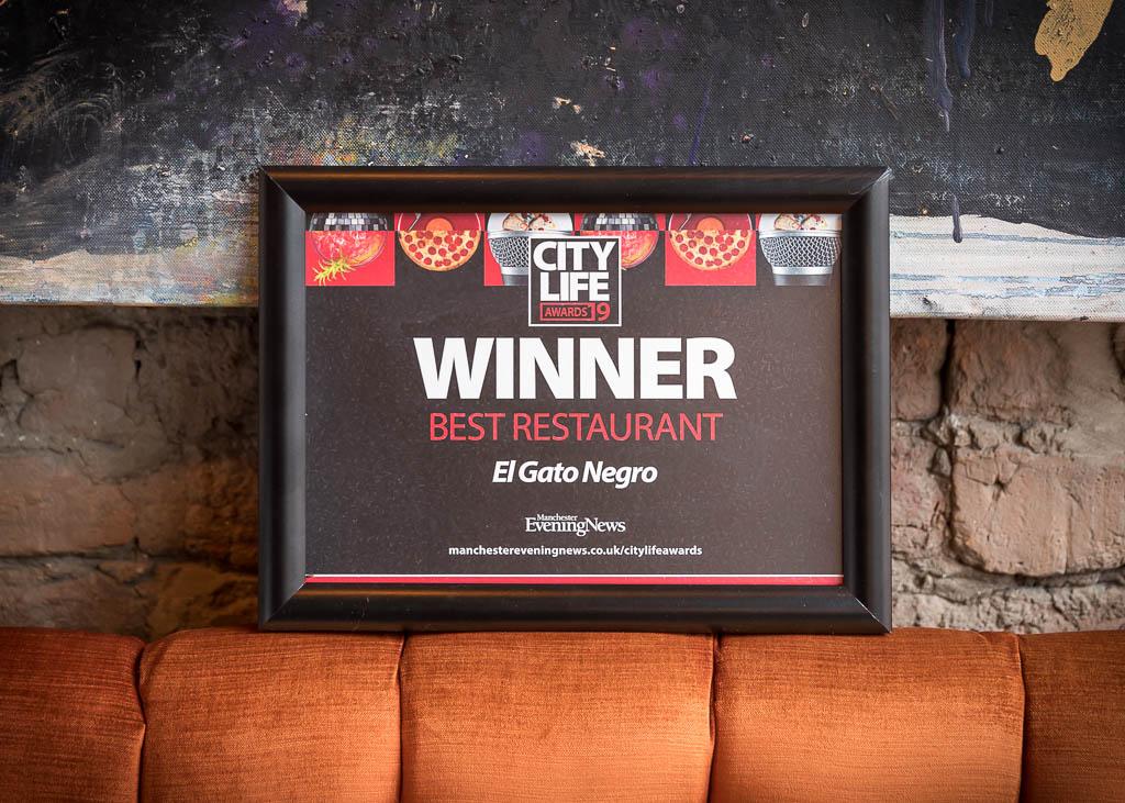 City Life Best Restaurant award